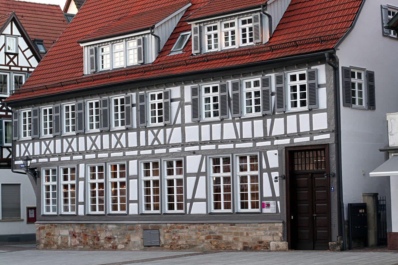 Fachwerkgebäude Marktplatz 4 in Kirchheim unter Teck